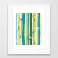 Woodland Stripe Framed Art Print