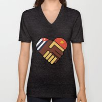 Hands Of Friendship Unisex V-Neck