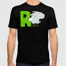 r for rabbit SMALL Black Mens Fitted Tee