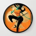 5 of Clubs Wall Clock