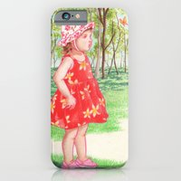 iPhone & iPod Case featuring Little Miss Butterfly by Aiko Tagawa