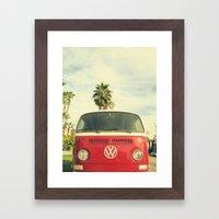 VW Coastin' Framed Art Print