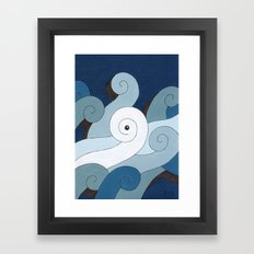 Mono Pattern   The Waves Framed Art Print