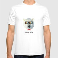 Coolar Bear Mens Fitted Tee White SMALL