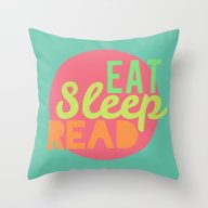 Throw Pillow featuring Eat. Sleep. Read by Bookwormboutique