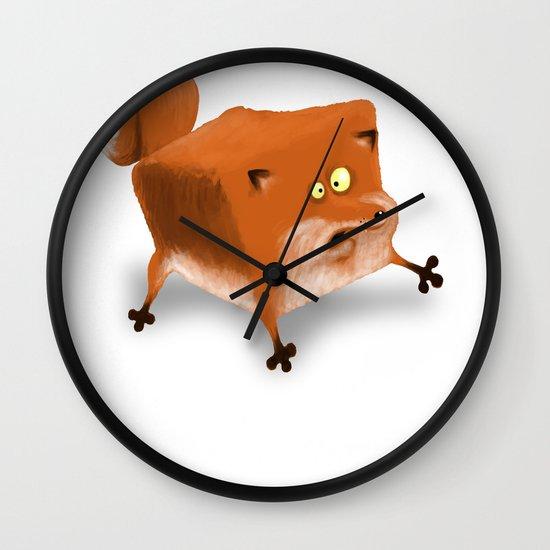 Box in a Fox Wall Clock