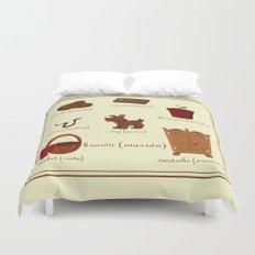 Colors: brown (Los colores: marrón) Duvet Cover