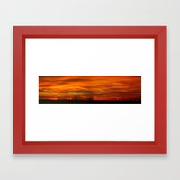 Panoramic sunset Framed Art Print