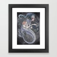The Siren And The Seahor… Framed Art Print