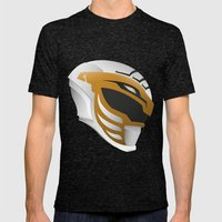 White Ranger Redux Mens Fitted Tee Tri-Black SMALL