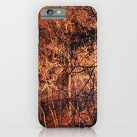 iPhone & iPod Case featuring Gold Glowing Forest by Andrew Sliwinski
