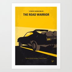 No051 My Mad Max 2 Road Warrior minimal movie poster Art Print