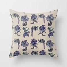 Botanical Florals | Vintage Blueberry Throw Pillow