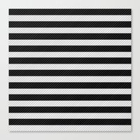 Sleepy Black And White S… Canvas Print