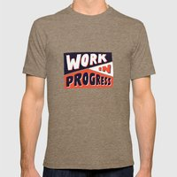 Work in Progress Mens Fitted Tee Tri-Coffee SMALL