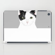 Manny - Black and white cute cat gift cat person cat lady funny cat meme pet portraits customizable  iPad Case