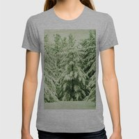 Evergreen Womens Fitted Tee Athletic Grey SMALL