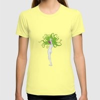 Dead model No.1 Womens Fitted Tee Lemon SMALL