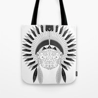 Snapped Up Market - Cowboys & Indians Tote Bag