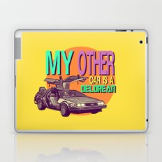 My Other Car Is A Delorean  |  Time Machine Laptop & iPad Skin