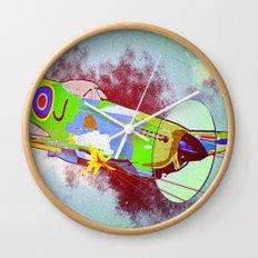 Spitfire Pop Art Wall Clock
