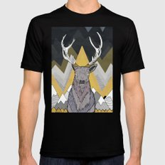 Silver Deer Mens Fitted Tee Black SMALL