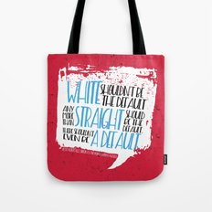 There Shouldn't Be A Default - Simon vs the Homo Sapiens Agenda book quote design Tote Bag