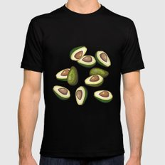 avocado pattern Mens Fitted Tee Black SMALL