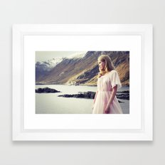 The Young Girl and the Sea Framed Art Print