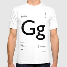 Gill Sans SMALL Mens Fitted Tee White
