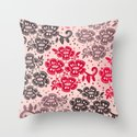 Floral Pattern #15 Throw Pillow