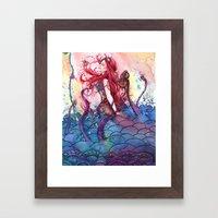 Steampunk Mermaid Framed Art Print