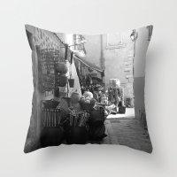 Cassis Street Throw Pillow