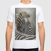 The striped Mohican Mens Fitted Tee Ash Grey SMALL