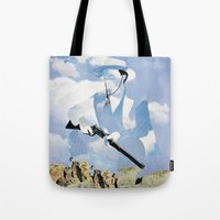 The Unknown Rider in Throw A Tall Shadow Tote Bag