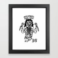 even death can die Framed Art Print