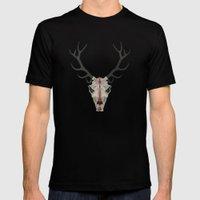 Demon Deer Mens Fitted Tee Black SMALL