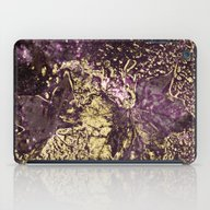 Purple Leaves In Melted … iPad Case