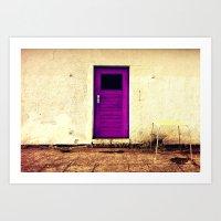 Purple Door Art Print