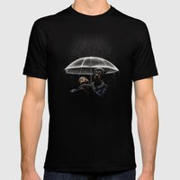 Cat & Dog Mens Fitted Tee Black SMALL