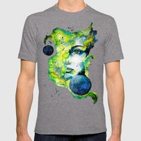 Esther Green (Set) by carographic watercolor portrait Mens Fitted Tee Tri-Grey SMALL