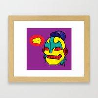 cheeze talk Framed Art Print
