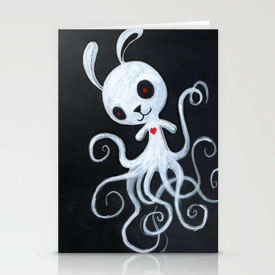 bunnnypus in the dark Stationery Card