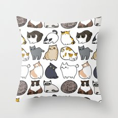 Cats Cats Cats Throw Pillow