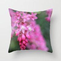 Ribes sanguineum Throw Pillow