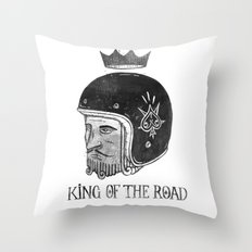 King of the Road Throw Pillow