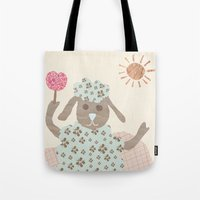 Sheep Collage Tote Bag