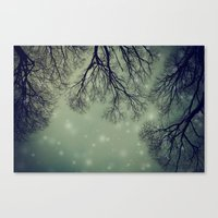 Alien Invader Trees Canvas Print