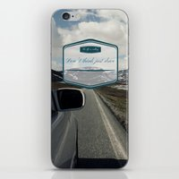 Roadtrip in norway iPhone & iPod Skin