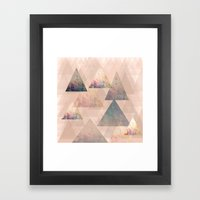 Pastel Abstract Textured… Framed Art Print